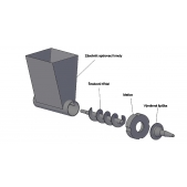 Šnekový aplikátor spárovací hmoty (pistole na spárování)